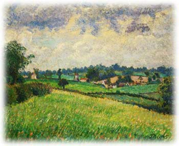Painting by Lucien Pissarro
